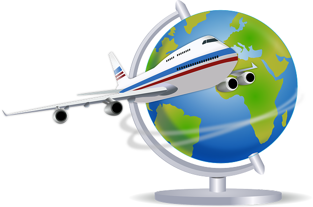 地球儀 飛行機