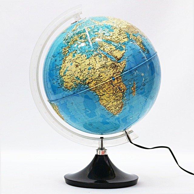地球儀 地勢図タイプ
